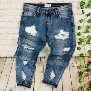 One Teaspoon Awesome Baggies Mid Rise Jeans